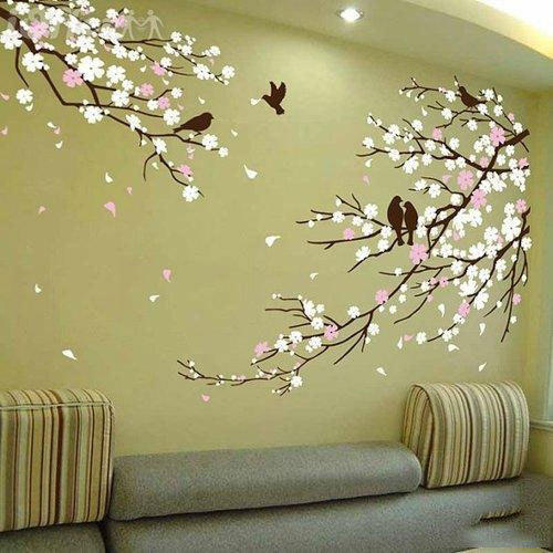 97+ Wall Painting Flower Designs - Unique Flower Design On Wall With ...