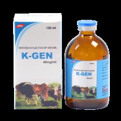 Gentamicin Injection B.P. 40mg/ml (Vet)