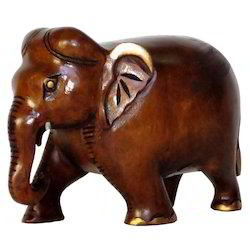 Wooden Carving Black Finishing Elephant