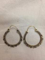 Brass Round Earring
