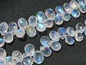 AAA Grade Rainbow Moonstone Faceted Briolette Stone Beads