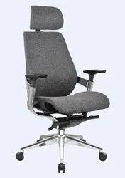 Office Executive High Back Boss/Director/Chairman Leather Mesh Chair Grey Fabric MY 002 B 3