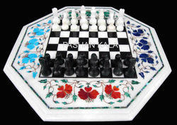 Chess Game Marble Inlaid Table Tops