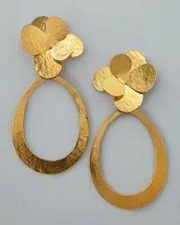Beaten Gold Earrings