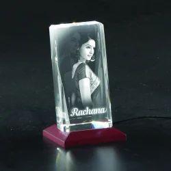 3D-1012B Custom Laser Engraved Crystal
