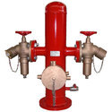 Double Headed Stand Post With Pumper Connection
