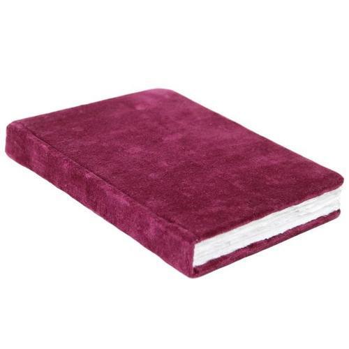 Velvet Cover 100 % Handmade Paper Journal Diaries