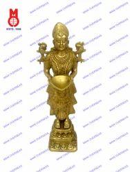 Deep Laxmi Standing On Lotus Base