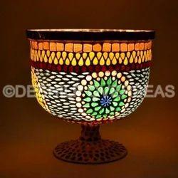 Glass Mosaic Hurricane Lamps