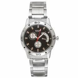 Vespl Chronograph Pattern Analogue Black Dial Men' Watch -