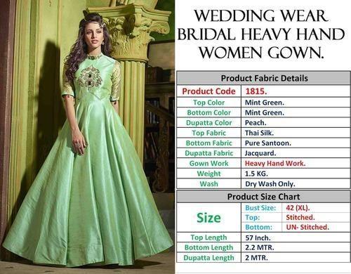 ed2d8968d3 Fancy Gown - Thankar heavy Wedding Wear Bridal Heavy hand Women Gown ...