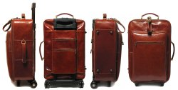 Leather Travel Trolley Bag