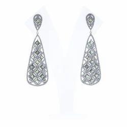Tourmaline Filigree Drop Earrings