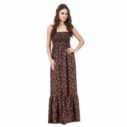 Floral Print Long Maxi Dress