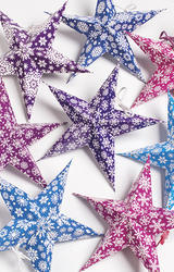 Set of Eight Mini Stars- Packed in Round Pack Size 4.5 inche