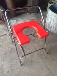SS Mini Commode Chair