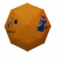 Solid Color With Owl Screen Logo Printed Umbrella
