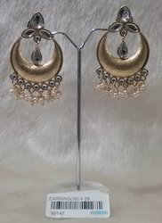 Kundan Hanging Earrings
