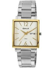 OMAX Analog White Dial Men's Watch - SS386