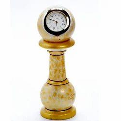 Marble Pillar Watch with Gold Work