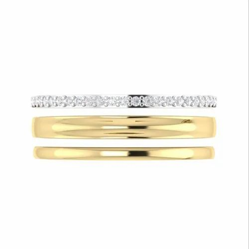 cbaf0a097 Diamond Rings - 18K Yellow Gold G-SI1 0.14Ct Round Diamond Prong Set  Eternity Ring In Manufacturer from Surat