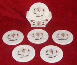 Handmade Marble Inlay Tea Coaster