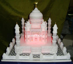 Marble Taj Mahal with Lighting