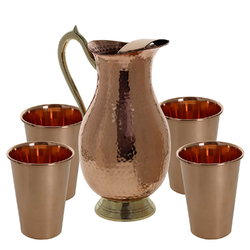 Copper Glass & Jug