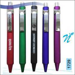 Plastic Metallic Coloured Pen with Chrome Parts