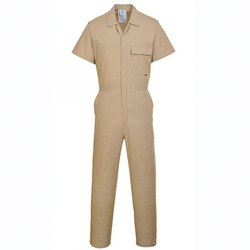 Male Beige Cotton Overall Industrial Uniforms