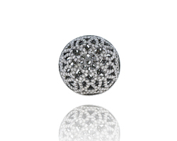 Diamond Filigree Ball Bead Findings