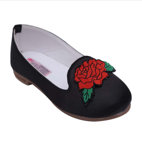 67489c08d66a Loafers - Stylish Loafers For Girls With Rose Applique Ecommerce ...