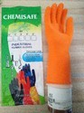 Orange Unisex Chemisafe Rubber Gloves, Chemi, For Construction/heavy Duty Work