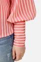 Western Orange Stripe Peter Pan Top