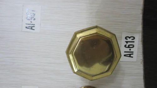 Brass Door Knobs on Black Plates