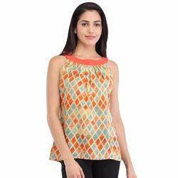 Cottinfab Women's Printed Sleeveless Top
