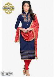 Fancy Chanderi Churidar Suits