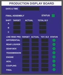 Production Data Display LED Board (Single Side Display)