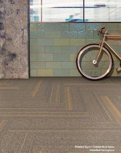 Bike Path Interface Carpet Tiles