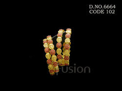 Antique Traditional Ruby Bangles