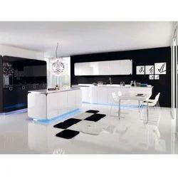 polymer high gloss kitchen cabinet