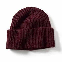 Maroon Woollen Caps