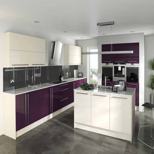 High Gloss Kitchens: Laminted High Gloss Kitchen