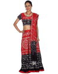 Rajasthani & Gujarati Cotton Cambric Tie Dye Lehenga Choli