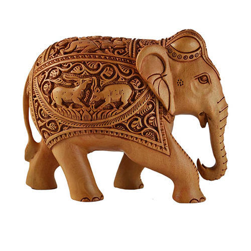 Wooden Painted Elephant Wooden Carved Elephant