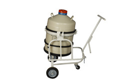 Liquid Nitrogen Container with Trolleys