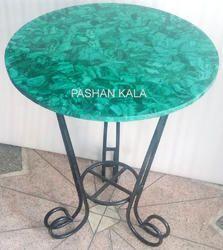 Malachite Stone Table Top, Stone Table Top