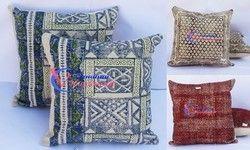 Printed Handloom Rug Cushion Cover
