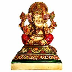 Resin Painted Culture Ganesha Statue