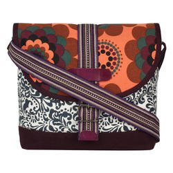 Printed Canvas Sling Bag